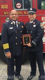 Lieutenant Friddell and Chief Of Department Burnett